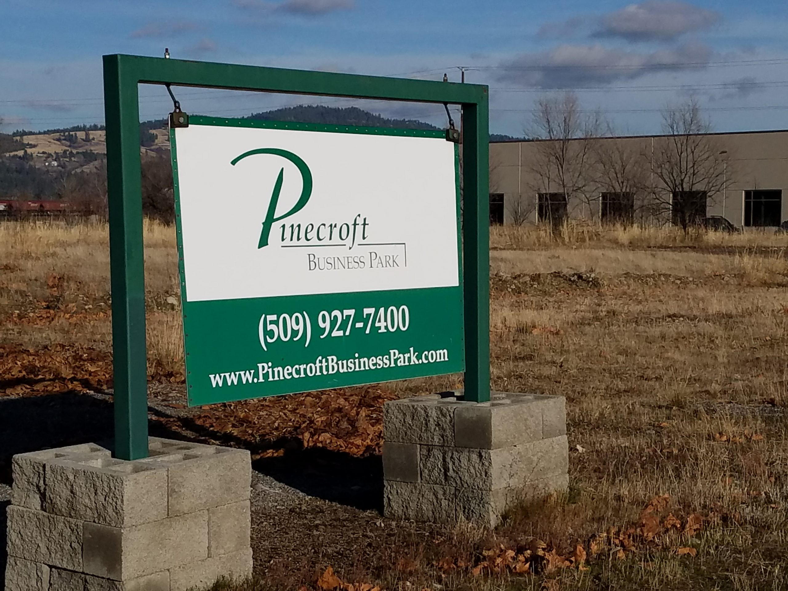 Property sign at business park